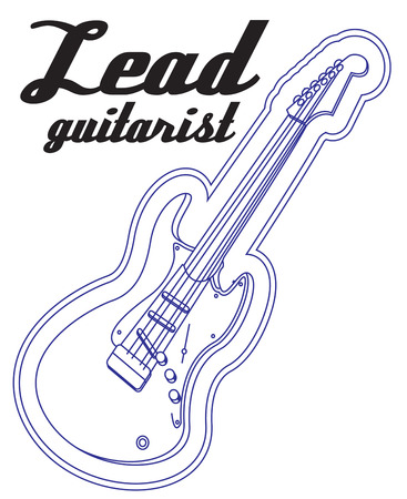 lead guitar: This electric guitar outline creates a unique neon effect.  Perfect for your favorite musician.