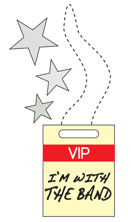 backstage: Heres the coveted VIP backstage pass  Create fun concert wear and announce you are with the band