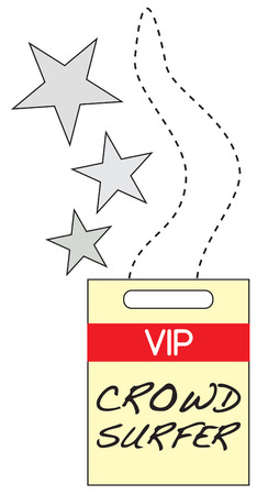 credentials: Heres the coveted VIP backstage pass  Create fun concert wear and announce you are with the band