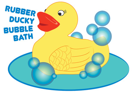 bath time: A special bath toy makes bath time fun.  This rubber ducky makes a fun way to dress up the little ones bath linens.