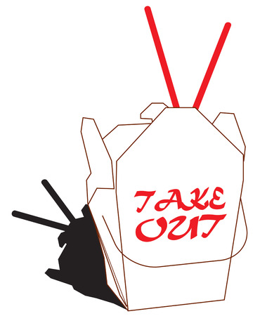 take out: Take out Chinese food is a favorite.  Add this take out box and chopsticks to dinner napkins to create a special take out meal.