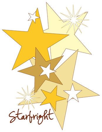 starbright: Award a gold star to the star performer with this smashing design.  Add it to a jogging suit jacket for a stunning effect.