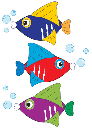 ocean life: Three colorful fish swim in a row to add nautical charm to your creations.  We love these little bits of ocean life on towels or swimming pool gear.