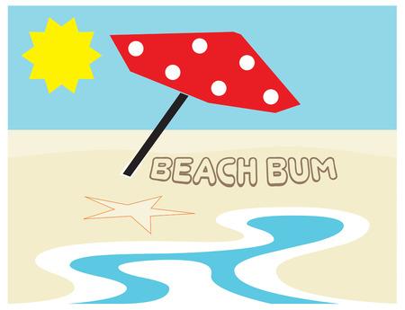 beach bag: This beach scene is just the art you need to create summertime magic.  Love it on a beach bag.