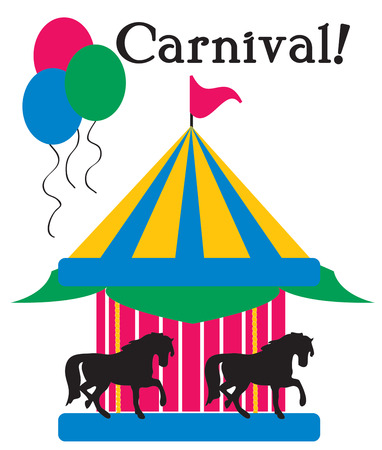 carnival ride: Ponies on a carousel create a carnival of magic.  Great for kids wear or a room done in circus dcor.
