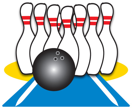 alleys: Lets create the perfect bowling shirt.  Shirts for the bowling team decorated with this design are sure to be a hit Illustration