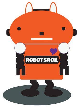 to make believe: Our make believe robot is ready to follow your command.  He is great for little boys shirts or jackets.