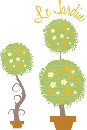 cor: This collection of lovely topiaries is just the perfect way to embellish your special projects. Love them on delicate linens for table tops.