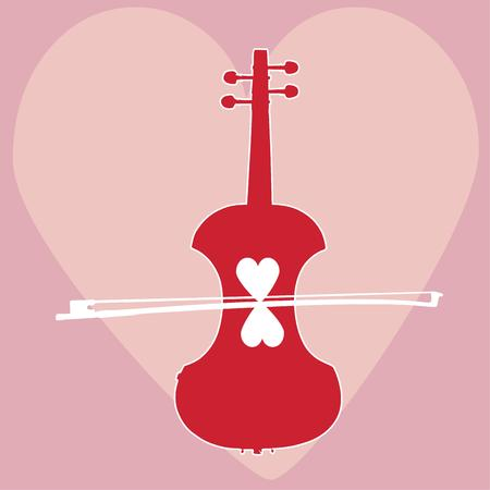 fiddles: Love and music from a fiddle come together in this heart filled design. Great for Valentines Day and perfect for a music lover.