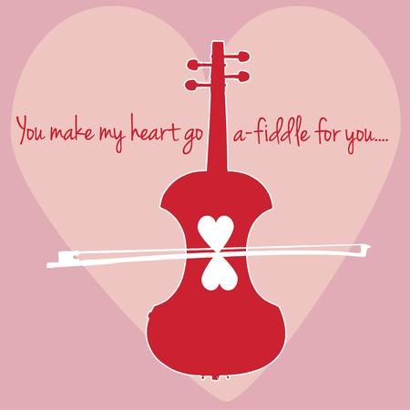 fiddle: Love and music from a fiddle come together in this heart filled design. Great for Valentines Day and perfect for a music lover.