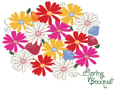 flair: You just cant have too many flowers. Spring has arrived with this stunning bunch of blooms. Flowers always add flair to any project. Illustration