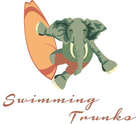 adds: What could be more humorous than a surfing elephant. This unexpected event adds a bit of humor to any project.