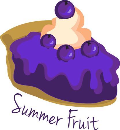 blueberry pie:  Blueberry pie  Illustration