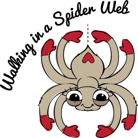 embellished: This is the most friendly and happy spider we have ever seen. We love him embellished on a Halloween shirt.
