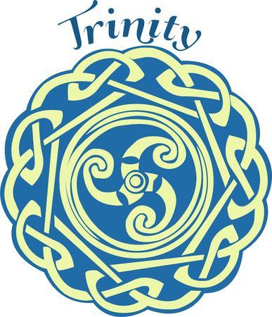 triskele: Celtic spiral design  Illustration