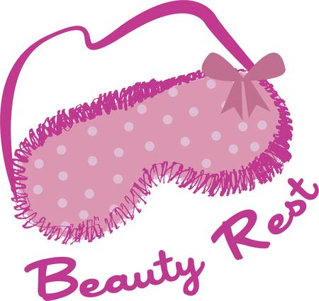 eye shade: Get your beauty rest with these classy eye shades. Block out the world and sleep like a princess. Great for makeup kit decoration.