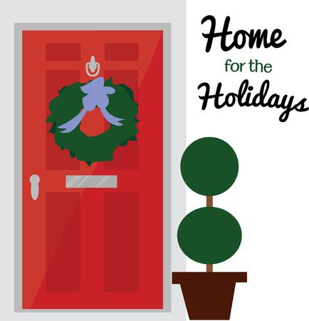 communicated: A lovely way to decorate your home with this welcoming front door. Hope the message of the Christmas season is communicated in striking form with this pretty design.