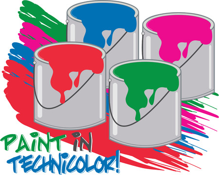 capes: Add some color and paint the town with these bright colors of paint. These paint tins are simply the perfect decoration for artist capes.