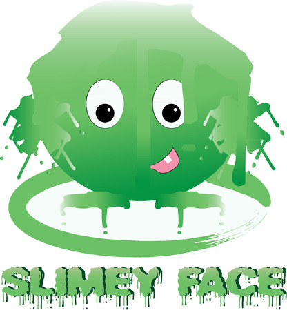 creature: Oozy yucky green slime creature   Illustration