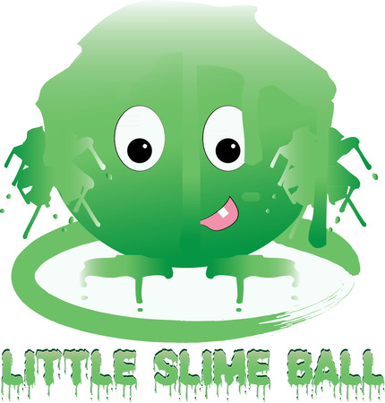 creature of fantasy: Oozy yucky green slime creature  what a nasty monster  Little boys will love this fantasy creature on their backpacks and even lunch boxes