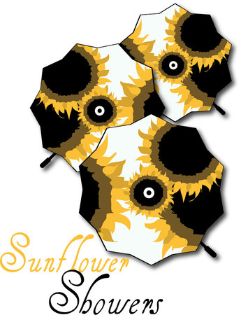 gamp: Look closely. These are special umbrellas decked out in lovely sunflowers. What a great design for raingear.