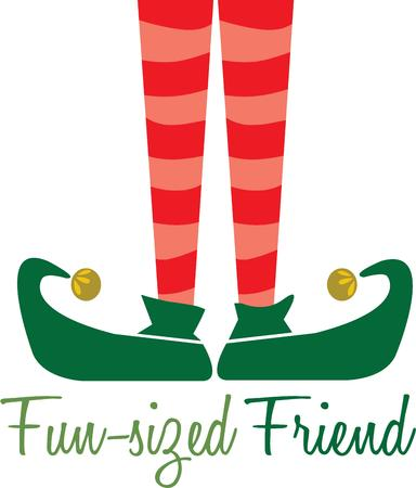 santa's helper: Be Santas helper with these adorable elf legs. Create cute holiday gear for your little one with this Christmas elf legs.