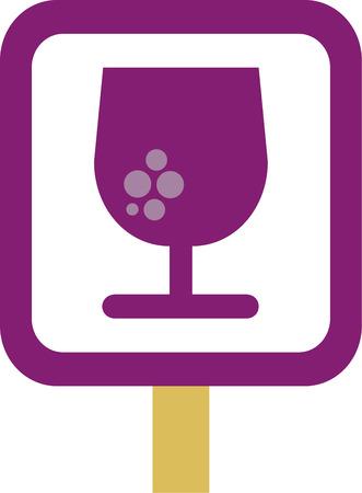 whimsical: whimsical wine glass  Illustration