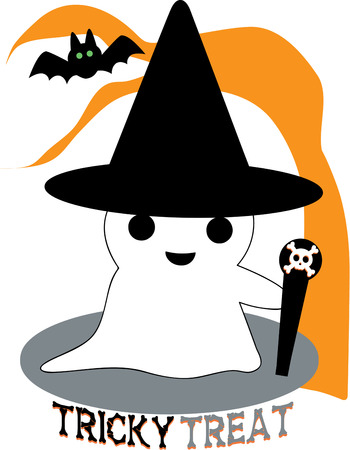 hallows: Our sweet little ghost is not too scary but super cute  Add him to a TrickorTreat bag that will be a hit year after year.