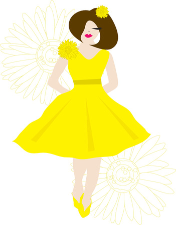 bridesmaid: A beautiful bridesmaid surrounded by floral blooms