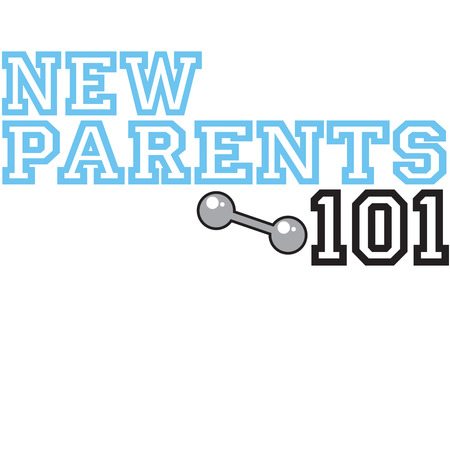 chuckles: Parents of new babies need all the help they can get  Lets enroll them in New Parents 101.  This design is sure to generate some chuckles displayed on apparel gifts for the new parents.