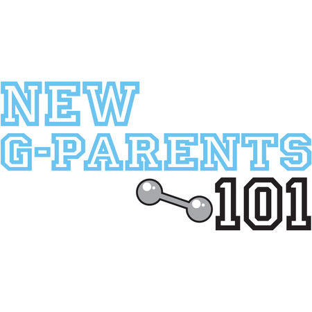 chuckles: Grandparents of new babies need all the help they can get!  Enroll them in New Grandparents 101.  This design is sure to generate some chuckles displayed on apparel gifts for the new grandparents. Illustration