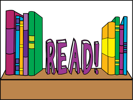 librarian: Books on a shelf are just what the librarian needs to promote reading.  Create signs, bags or even shirts and encourage reading at your school.