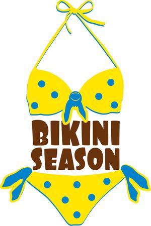 two piece bathing suit: Nuestra Itty Bitty pito peque�ito polka dot bikini amarilla tiene que prepararse para la temporada de bikini. Crear una bolsa de sol playa todo decorado con esta decoraci�n de trajes de ba�o.