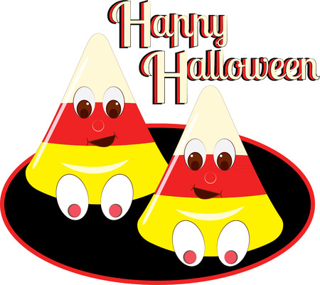 hallows: Candy corn is the best of the Halloween treats but add a funny face and it gets even better  Add this sweet smile to your Halloween decorating sceme.