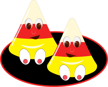 candy corn: Candy corn is the best of the Halloween treats but add a funny face and it gets even better  Add this sweet smile to your Halloween decorating sceme.