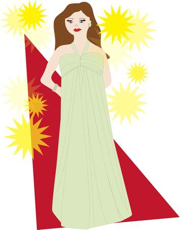 belle dame: Marcher sur le tapis rouge avec cette belle starlette. Cette belle dame est un excellent moyen de d�corer votre maquillage sac.