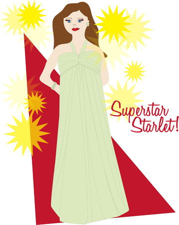 starlet: Walk the red carpet with this beautiful starlet.  This beautiful lady is a great way to decorate your make up bag.