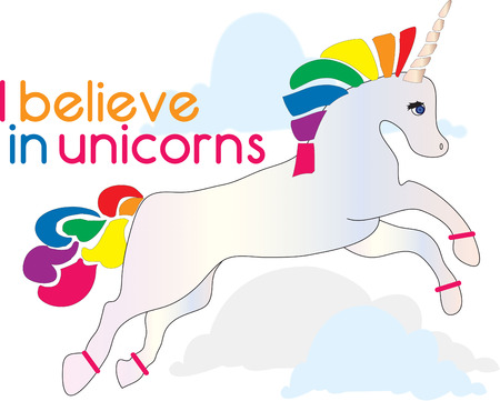 treasured: A rainbow unicorn is a little girls dream.  Add this colorful fantasy creature to create a treasured gift for your favorite little girl.