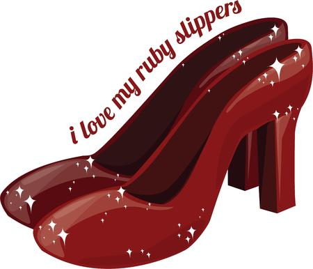 ruby: All girls want a pair of ruby slippers.