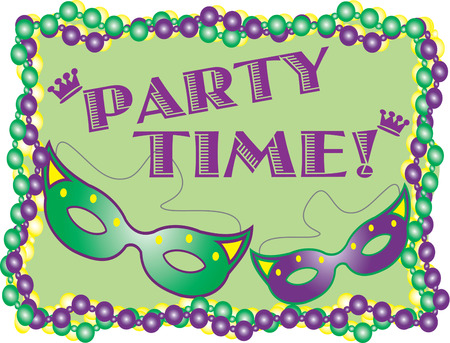 fat tuesday: Plan the perfect Mardi Gras party with this design.  Great invitation art