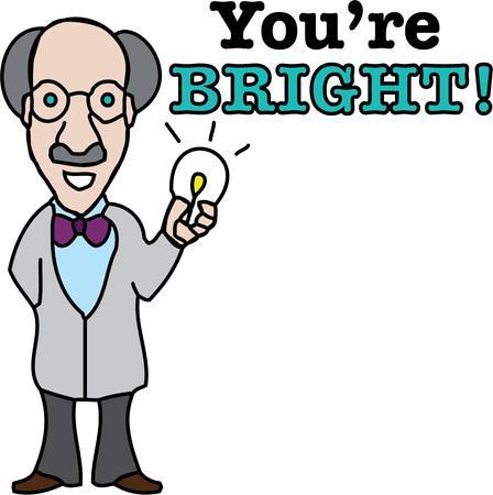 inventor: Science geeks will appreciate this scientist guy. Illustration