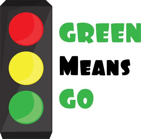 stop light: Direct traffic on your next project with this stop light design.