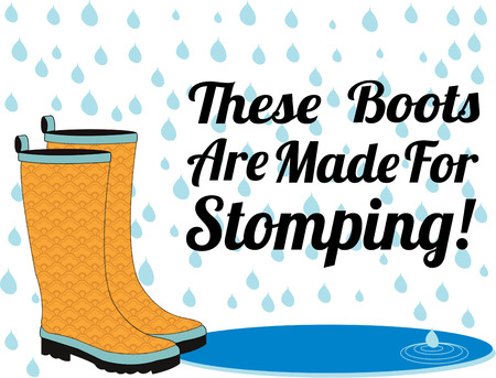 galoshes: Stomp in the puddles and have some fun with these pretty rain boots.  Great for springtime rain gear decoration.
