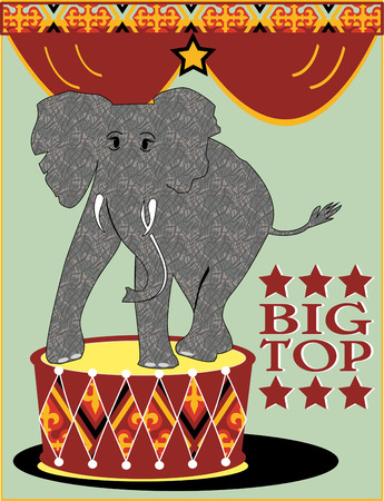 trained: The circus has come to town complete with performing elephants.  We think this design is an adorable addition to a circus themed room.