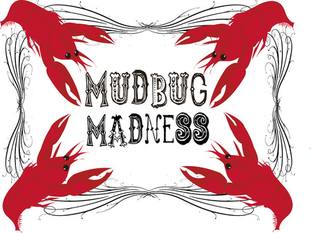langouste: Celebrate crawfish season with this mudbug frame.  Decorate a menu or create special shirts for your crawfish boil.
