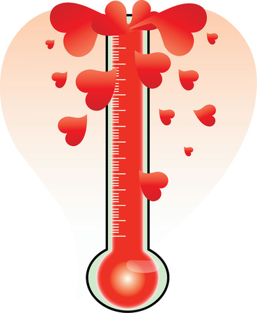 burns: Hot love burns up the thermometer  Create a red hot message for your love with this boiling heart design.
