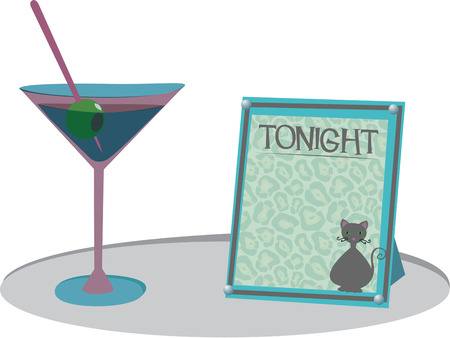mixed drink: An adult beverage classic awaits your enjoyment. What a perfect embellishment for a martini lounge