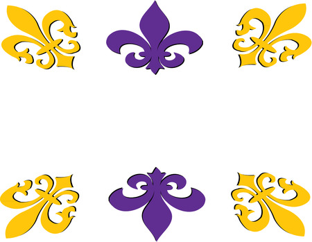 memorable: A frame of fleur de lis turns text into something beautifully memorable. Illustration