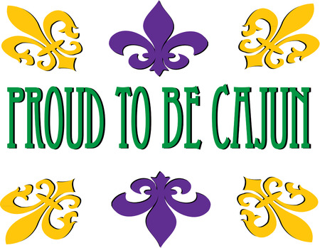 orleans symbol: A frame of fleur de lis turns text into something beautifully memorable. Illustration