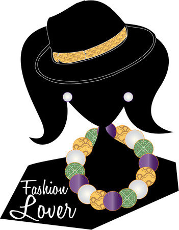 definite: A fashionable silhouette featuring jewels and a hat is a definite statement  It is such a fun decoration for luggage and garment bags.